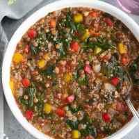 Vegan Lentil Stuffed Pepper Soup
