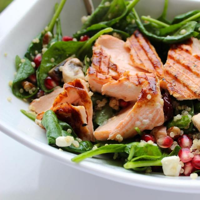 Love salmon salad? Me too! Ill be recreating this saladhellip