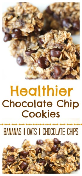 Healthier 3 Ingredient Chocolate Chip Cookies - Gluten-Free - by Stacey Mattinson