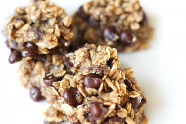 Chewy 3 Ingredient Banana Oat Chocolate Chip Cookies by Stacey Mattinson