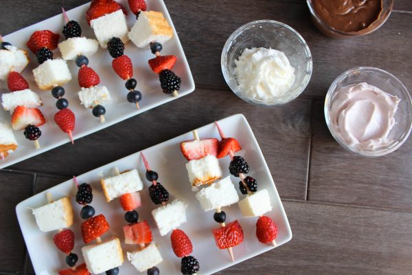 Red White & Blue Angel Food Cake Skewers | by Stacey Mattinson