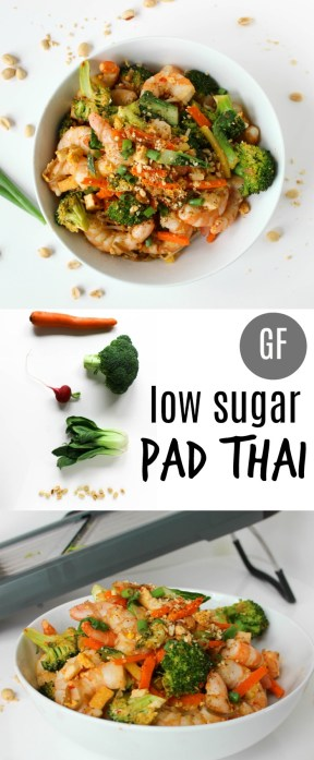 Low Sugar Pad Thai by Stacey Mattinson, MS, RDN, LD