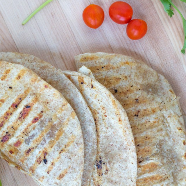 Whole Wheat Chicken Quesadillas