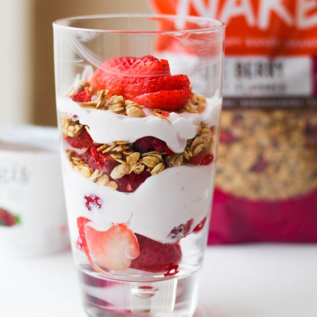 High Protein Super Simple Breakfast Parfait | Vegetarian
