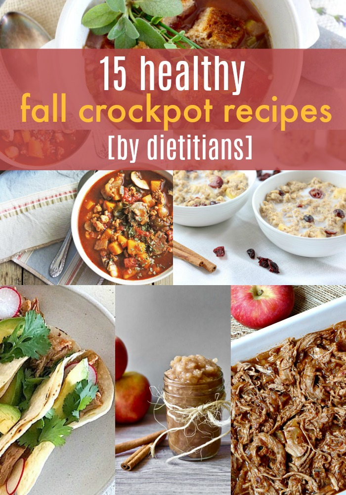 Looking for healthy, fall meal prep ideas? Check out these healthy, fall crockpot recipes by dietitians. | Slow Cooker Fall Recipes by Stacey Mattinson Nutrition