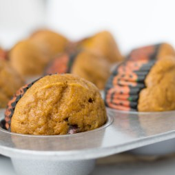Pumpkin Chocolate Chip Muffins | Healthier Halloween Treat
