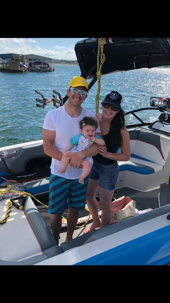 Staying active as a family with a new baby on the boat