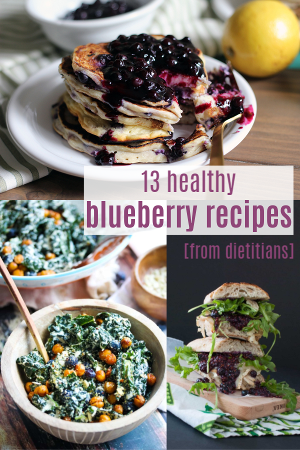 13 healthy blueberry recipes from dietitians, from sweet to savory, breakfast to dinner! | Healthy Blueberry Recipes on Stacey Mattinson Nutrition