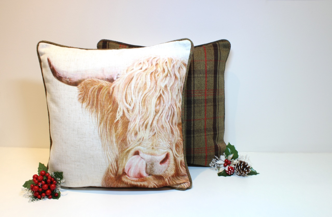 SOLD OUT Highland Cow Luxury Country Cushion