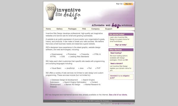Inventive Site Design Website