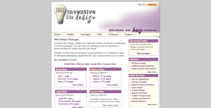 Inventive Site Design Website - Packages