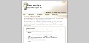 Inventive Site Strategies, Inc Website - Quote