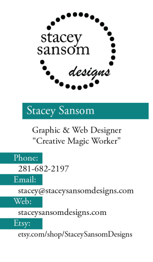 Stacey Sansom Designs Business Card Design