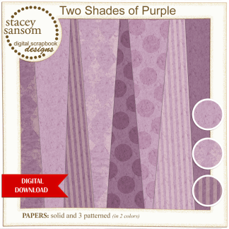 Two Shades of Purple Paper Pack from Stacey Sansom Designs