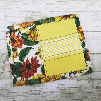 Snack Mat - Sunflowers and Yellow - 8x6.5