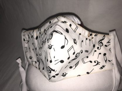 Medium Face Mask (Ver 1) - Music Notations   Stacey Sansom Designs