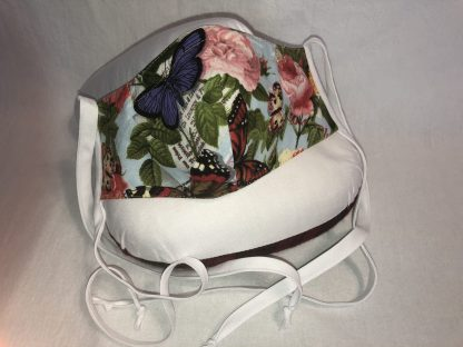 Medium Face Mask (Ver 1) - Floral and Butterflies   Stacey Sansom Designs