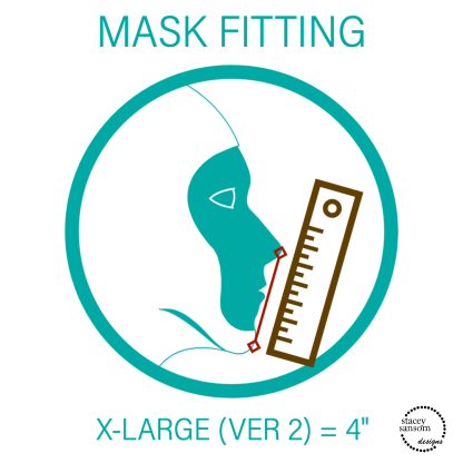 Mask Fitting - Extra Large (Ver 2) Fitted Face Mask   Stacey Sansom Designs