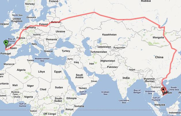 The world's longest train journey