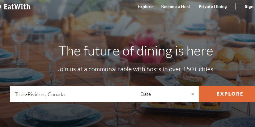 "<a target=""_blank"" href=""https://www.eatwith.com/"">EatWith lets you eat in people's homes in cities around the world.</a>"