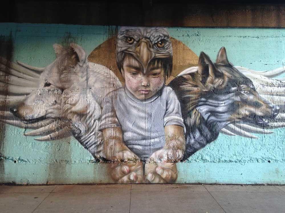 Winnipeg street art mural