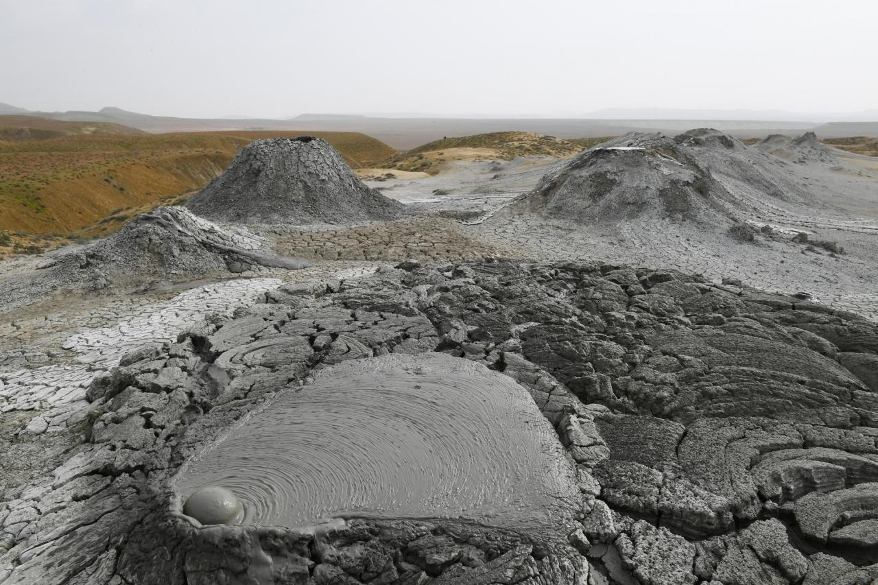 Mud volcano in Absheron via Wikimedia Commons
