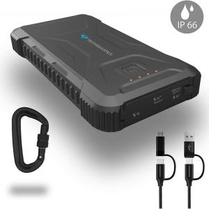 Techsmarter 20,000mah Rugged & Waterproof 18W USB-C PD Port Power Bank.