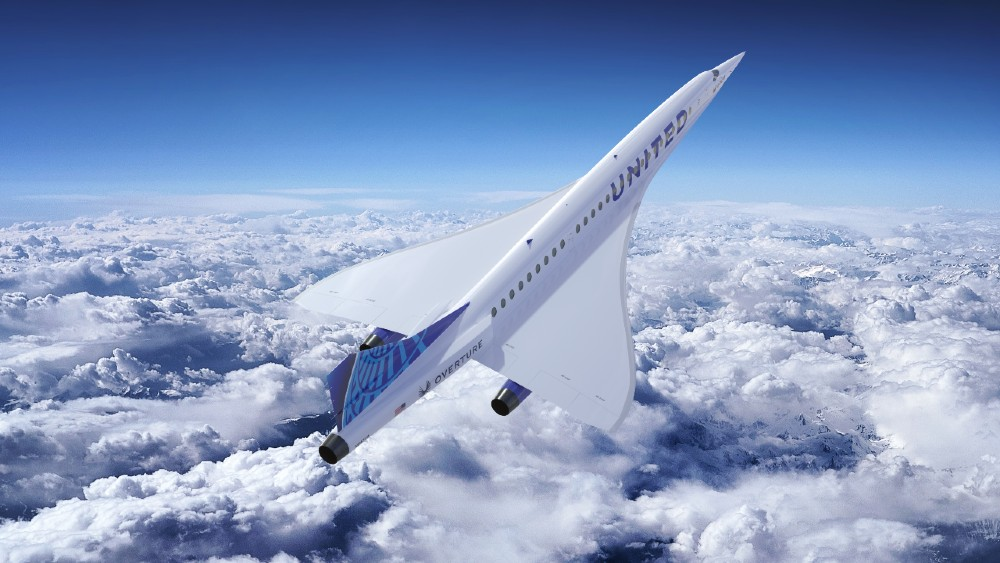 Boom supersonic jet plane
