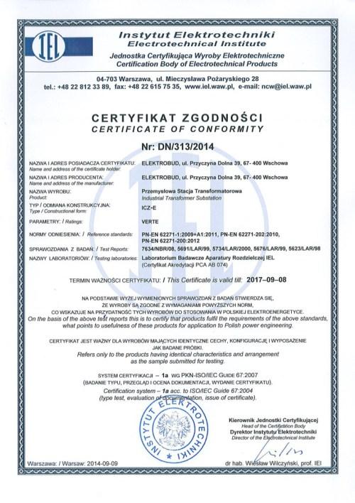 certyfikat-instytutu-elektrotechniki-pierwsza-strona