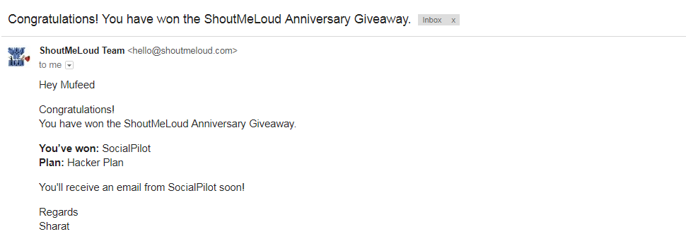 ShoutMeLoud SocialPilot Giveaway