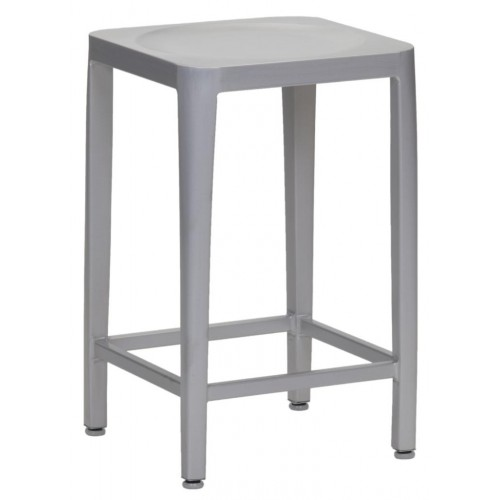 Aluminum 24 Backless Bar Stool