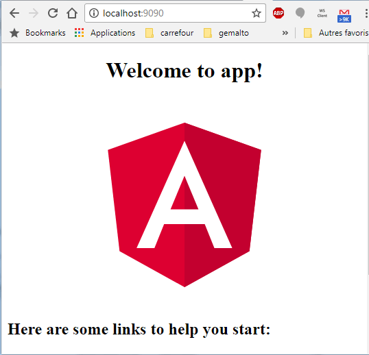 Angular app up and running using Nginx
