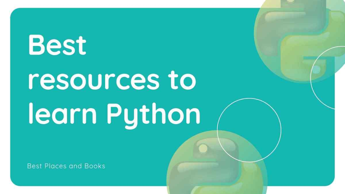 Best resources to learn Python | Best Place and Books