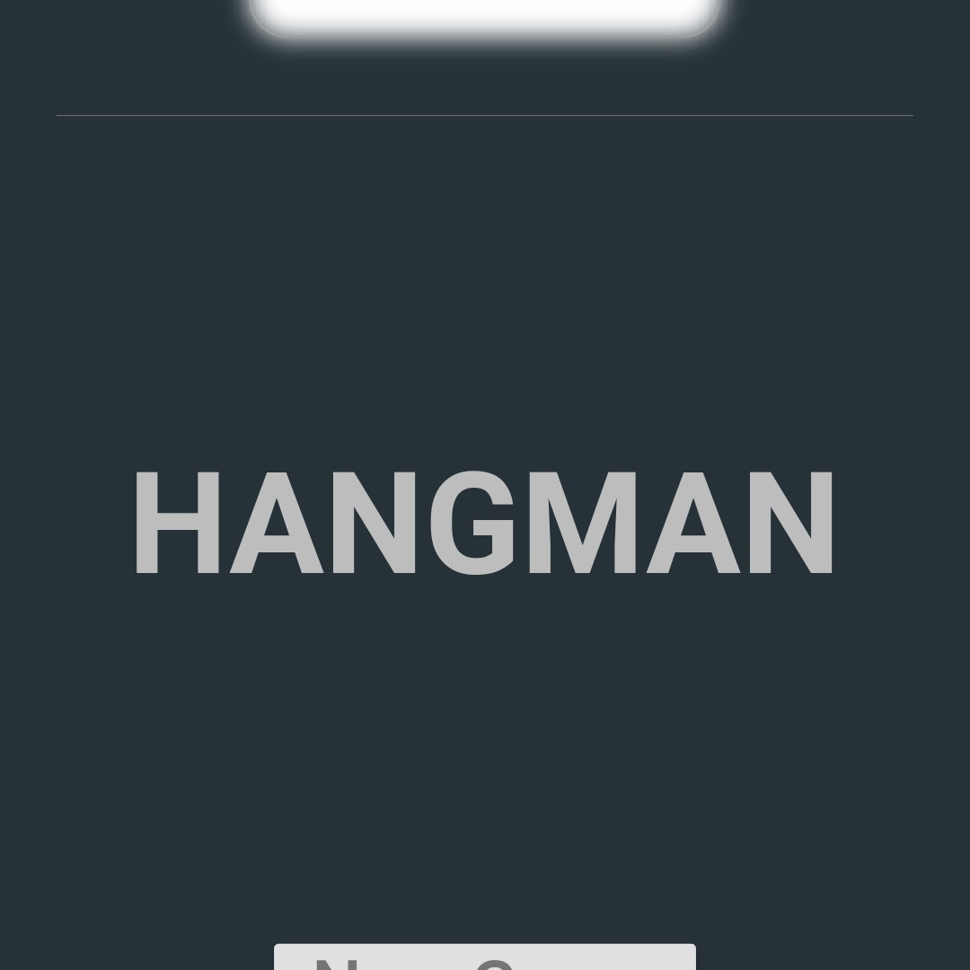 Redesigned Hangman Intro