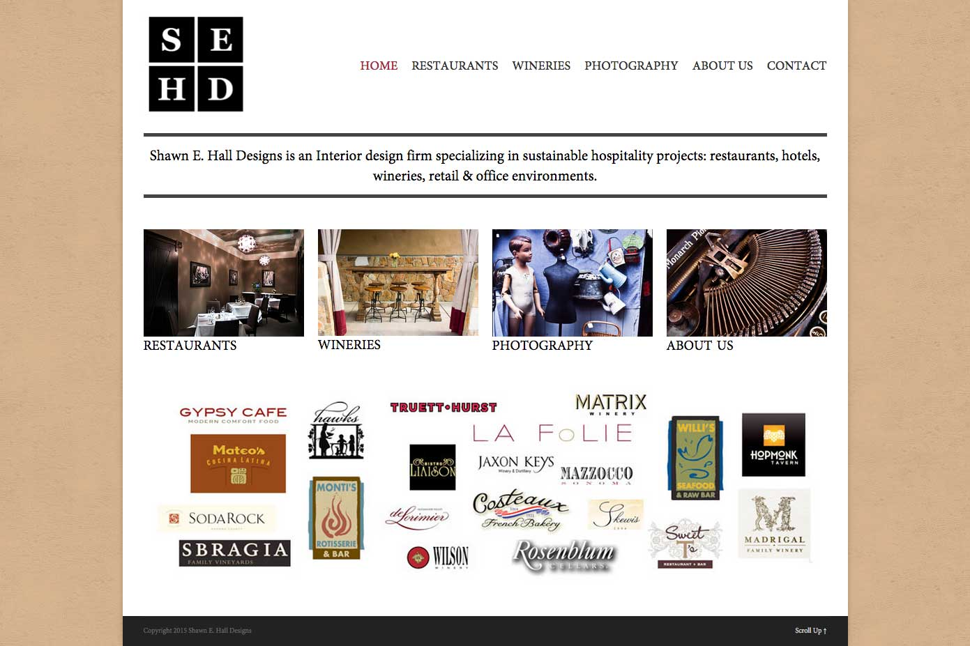 screenshot of new site