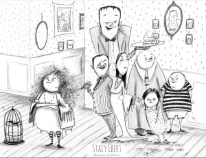 Addams Family illustration by Stacy Ebert
