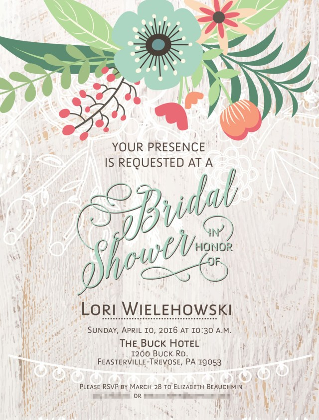 lori shower invitation