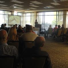Stacy Lyn Harris speaks at SEOPA event on Sustainable Living.