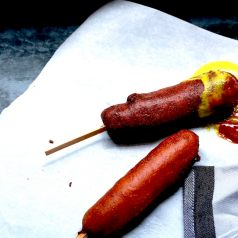 Venison Corn Dogs! Comfort food doesn't get much better!! Love making my birthday girl happy with this deliciousness!