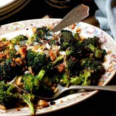 Stacy Lyn Harris roasted broccoli with toasted bread crumbs and pine nuts