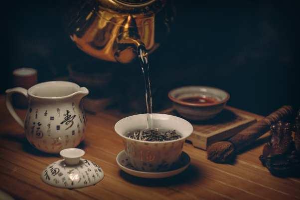 making tea