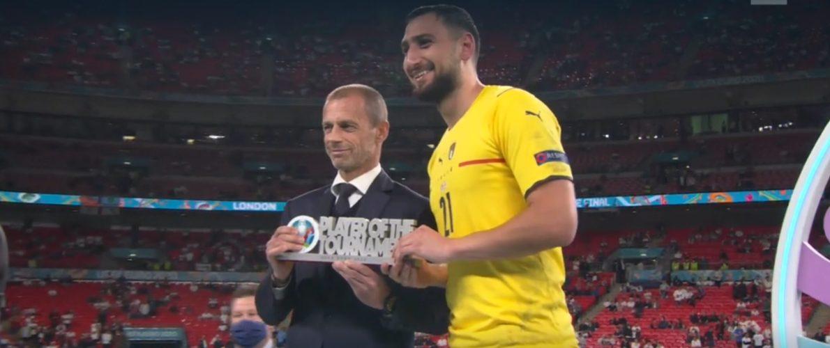 Italia, Gianluigi Donnarumma miglior giocatore di Euro 2020