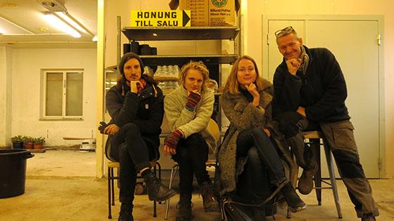 Lotta, Teo, Peter och Niklas