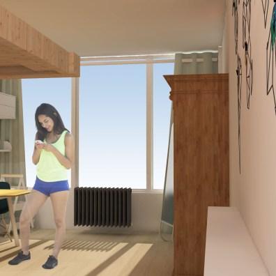 Voorbeeld indeling grote Kamer 1