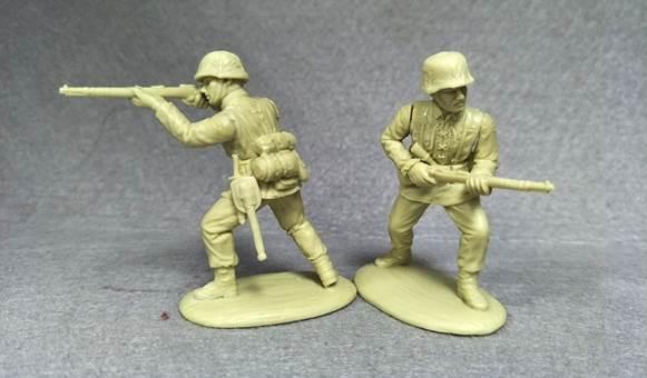 Bum 1//32 Mortar Squad WWll Set U S Soldier Figures W Accessories Model Kit