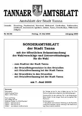 Sonderamtsblatt Mai 2009