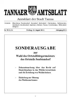 Sonderamtsblatt August 2011