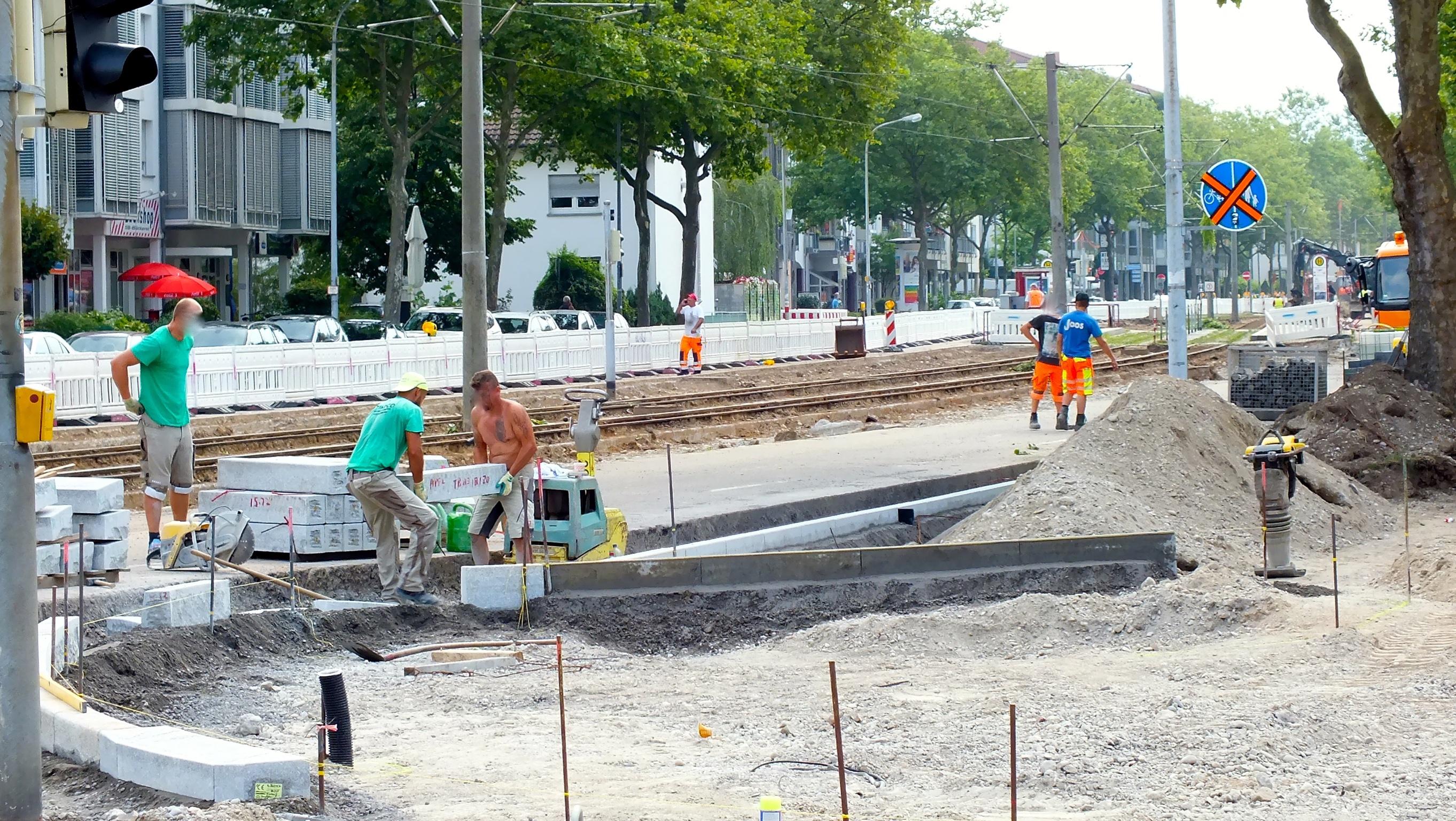 Bauarbeiten an der Sundgaubrücke