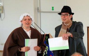 Die Vereinsgeschichte einmal anders - Humoristische Darbietung von Silke Specht und Stefan Keller