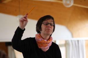 Kerstin Assmann-Schulz bei der Arbeit